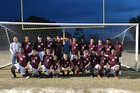 Middleton Tigers Boys Varsity Soccer Winter 17-18 team photo.