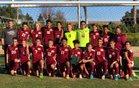 Granite Hills Cougars Boys Varsity Soccer Winter 17-18 team photo.