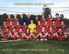 Campolindo Cougars Boys Varsity Soccer Winter 17-18 team photo.