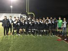 Coral Glades Jaguars Boys Varsity Soccer Winter 17-18 team photo.