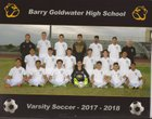 Goldwater Bulldogs Boys Varsity Soccer Winter 17-18 team photo.
