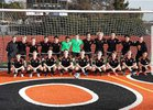 Roseville Tigers Boys Varsity Soccer Winter 17-18 team photo.