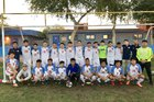 NFL Yet Academy Eagles Boys Varsity Soccer Winter 17-18 team photo.