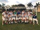 Hialeah-Miami Lakes Trojans Boys Varsity Soccer Winter 17-18 team photo.