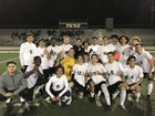 Rancho Cucamonga Cougars Boys Varsity Soccer Winter 17-18 team photo.