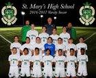 St. Mary's Rams Boys Varsity Soccer Winter 17-18 team photo.