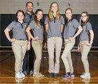 Bishop Verot Vikings Girls Varsity Bowling Fall 17-18 team photo.