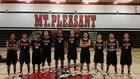 Mt. Pleasant Cardinals Boys Varsity Basketball Winter 15-16 team photo.