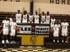 Lee Trojans Boys Varsity Basketball Winter 15-16 team photo.