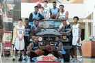 Spain Park Jaguars Boys Varsity Basketball Winter 15-16 team photo.