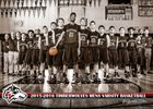 Woodcreek Timberwolves Boys Varsity Basketball Winter 15-16 team photo.