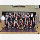 Trinity Christian Lions Boys Varsity Basketball Winter 15-16 team photo.