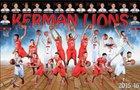 Kerman Lions Boys Varsity Basketball Winter 15-16 team photo.