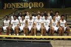 Jonesboro Hurricane Boys Varsity Basketball Winter 15-16 team photo.