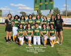 Horizon Huskies Girls Freshman Softball Spring 17-18 team photo.