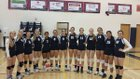 Perry Pumas Girls Varsity Volleyball Fall 14-15 team photo.