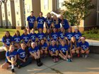 St. Benedict at Auburndale Eagles Girls Varsity Volleyball Fall 14-15 team photo.