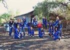 Safford Bulldogs Girls Varsity Volleyball Fall 14-15 team photo.