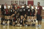 Laguna Creek Cardinals Girls Varsity Volleyball Fall 14-15 team photo.