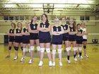 Warrensburg Burgers Girls Varsity Volleyball Fall 14-15 team photo.