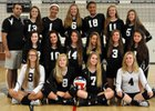 Longmeadow Lancers Girls Varsity Volleyball Fall 14-15 team photo.