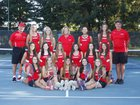 Carondelet Cougars Girls Varsity Tennis Fall 16-17 team photo.