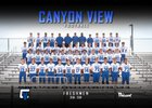 Canyon View Jaguars Boys Freshman Football Fall 18-19 team photo.