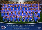 Christian Brothers Falcons Boys Freshman Football Fall 18-19 team photo.