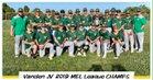 Vanden Vikings Boys JV Baseball Spring 18-19 team photo.