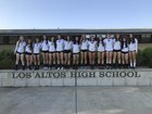Los Altos Eagles Girls Varsity Volleyball Fall 17-18 team photo.