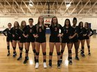 Falls Lake Academy Firebirds Girls Varsity Volleyball Fall 17-18 team photo.