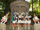 Cathedral Fighting Irish Girls Varsity Volleyball Fall 17-18 team photo.