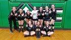Alden-Hebron Green Giants Girls Varsity Volleyball Fall 17-18 team photo.
