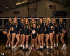 Bradenton Christian Panthers Girls Varsity Volleyball Fall 17-18 team photo.