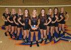 Cedar Ridge Timberwolves Girls Varsity Volleyball Fall 17-18 team photo.