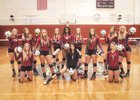 Tate Aggies Girls Varsity Volleyball Fall 17-18 team photo.