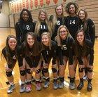 Beech Grove Hornets Girls Varsity Volleyball Fall 17-18 team photo.