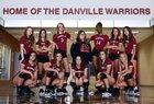 Danville Warriors Girls Varsity Volleyball Fall 17-18 team photo.