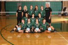 Mounds View Mustangs Girls Varsity Volleyball Fall 17-18 team photo.