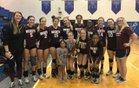 Gardendale Rockets Girls Varsity Volleyball Fall 17-18 team photo.
