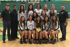 Mayfield Trojans Girls Varsity Volleyball Fall 17-18 team photo.