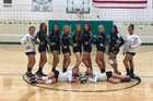 Bowie/San Simon Cougars Girls Varsity Volleyball Fall 17-18 team photo.
