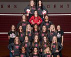 Searcy Lions Girls Varsity Volleyball Fall 17-18 team photo.