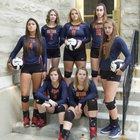 Seton Catholic Cardinals Girls Varsity Volleyball Fall 17-18 team photo.