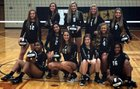 Foster Falcons Girls Varsity Volleyball Fall 17-18 team photo.