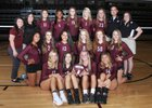 Jenks Trojans Girls Varsity Volleyball Fall 17-18 team photo.
