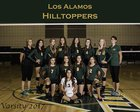 Los Alamos Hilltoppers Girls Varsity Volleyball Fall 17-18 team photo.