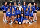 Gilmour Academy Lancers Girls Varsity Volleyball Fall 17-18 team photo.