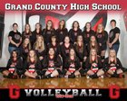 Grand County Red Devils Girls Varsity Volleyball Fall 17-18 team photo.