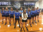 Highlands Christian Knights Girls Varsity Volleyball Fall 17-18 team photo.